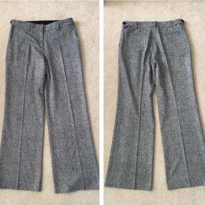 Tory Burch Grey Wool Tweed Wide Leg Trousers 10